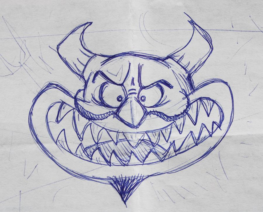 duivel-schets